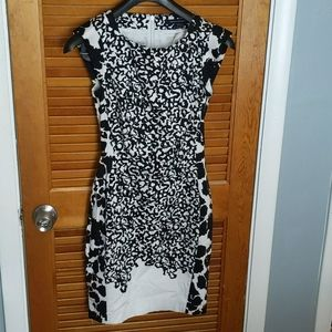 French Connection black/white dress - Sz 2